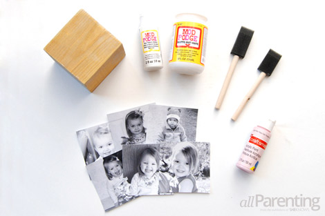 DIY photo cube materials