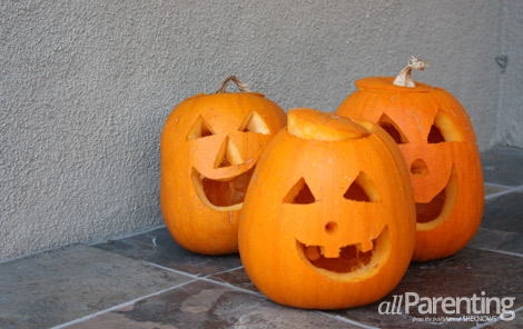 Pumpkin patch jack-o-lanterns