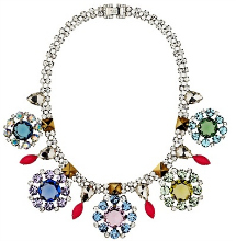 Juicy Couture Rhinestone Cluster Collar Necklace