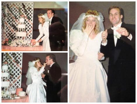 Amy and Mike wedding cake exchange