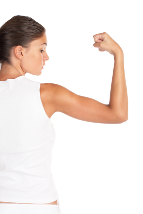 Women covet celebrities' toned arms
