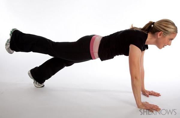 Single leg plank: