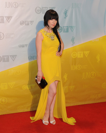 Carly Rae Jepsen at the 2013 Juno Awards