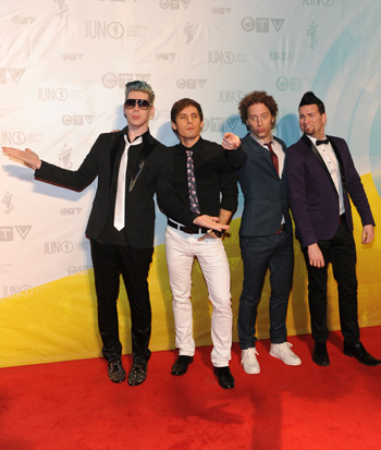 Marianas Trench at the 2013 Juno Awards