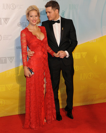 Michael Buble and Luisana Lopilato at the 2013 Juno Awards