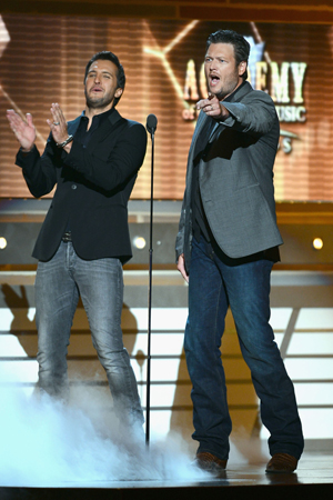 Blake Shelton and Luke Bryan at the ACM Awards