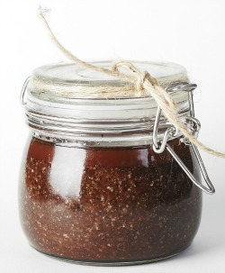 Chocolate honey scrub