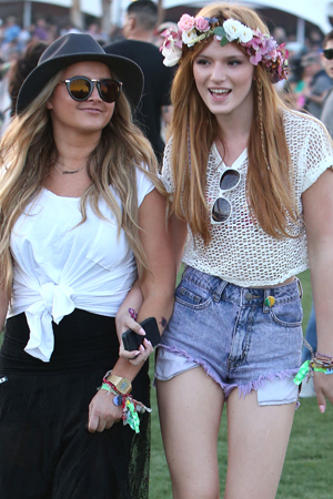 Bella Thorne Short Shorts Bella thorne at coachella