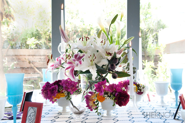 Mother's Day tablescape -- The centerpiece