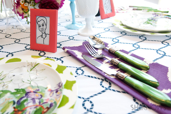 Mother's Day tablescape -- the placesetting