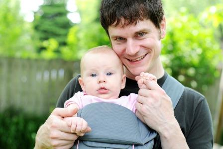 Babywearing dad