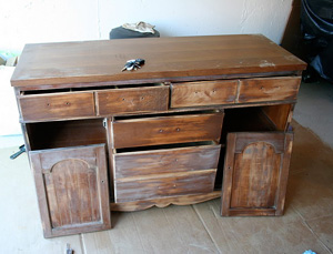 Dresser made into kitchen island