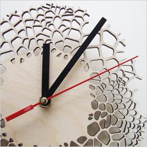 Giraffe print clock