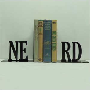 Metal art bookends