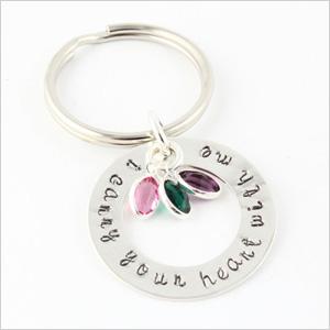 Birthstone keychain