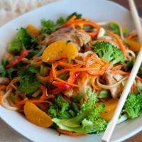 Easy Orange Chicken Noodle Stir Fry