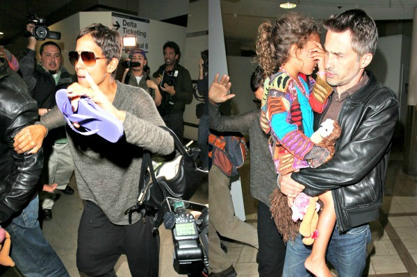 Return to LAX doesn't go well for Halle Berry