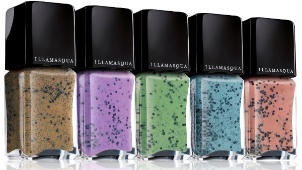 Speckled nail lacquers? Yes, please