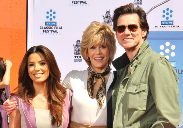 Eva Longoria, Jane Fonda and Jim Carey