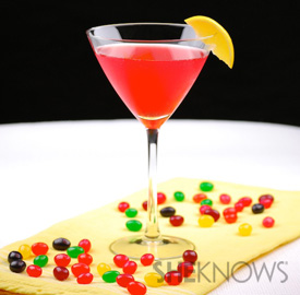 Sparkling Jelly Bean Martini