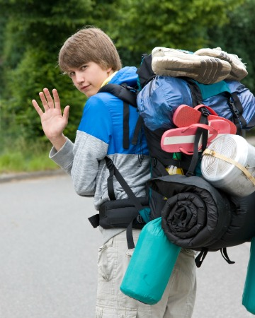 Leaving for summer camp