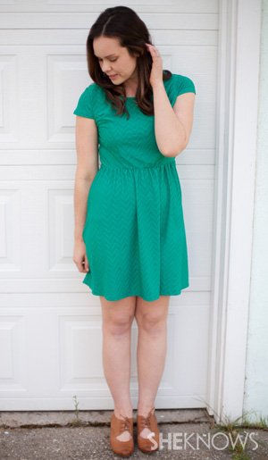 Green dress perfect for spring