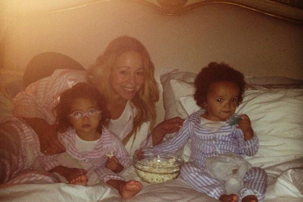 Mariah Carey and her twins