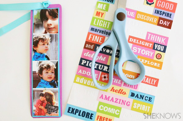 Photo bookmark - Mother's Day craft