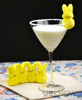 Marshmallow Peep Martini