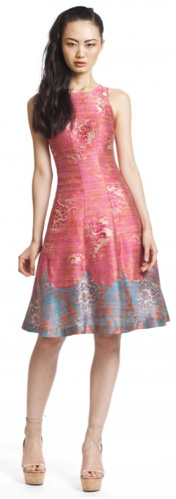 Pink wallpaper dress by Tracy Reese
