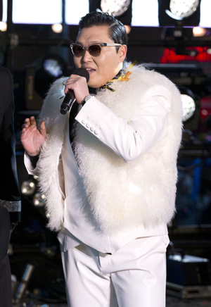 PSY performing in Times Square on New Years Eve