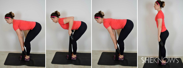 Bent over row to deadlift