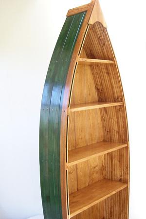 The gigantic rowboat bookcase