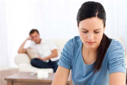Woman thinking about her relationship