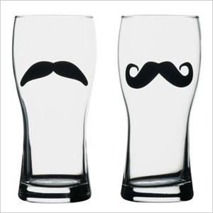 Moustache beer mugs