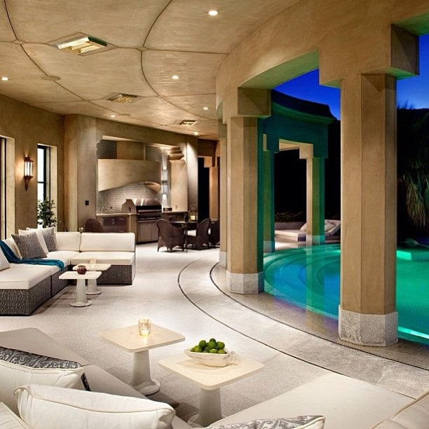 Luxury backyard