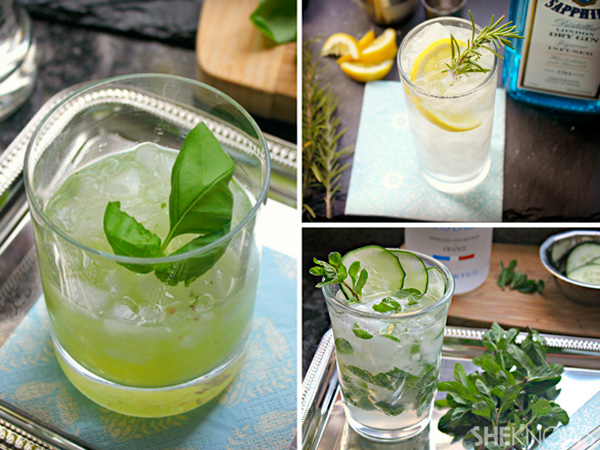 3 Herb infused cocktail recipes