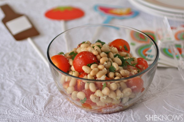 white bean and tomato salad