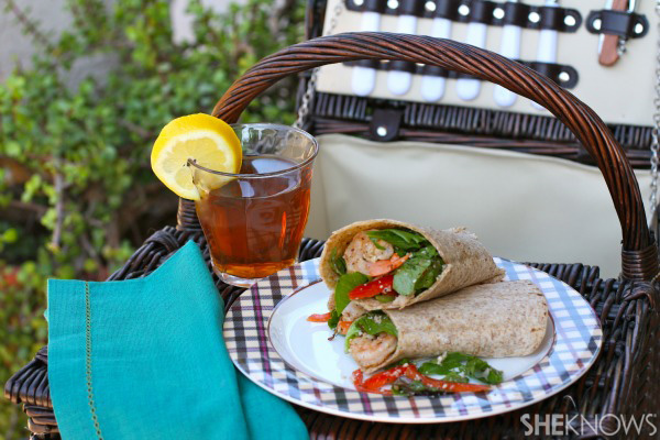 Lemon grilled shrimp wrap
