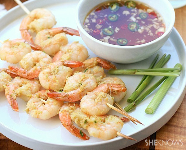 Shrimp on a stick