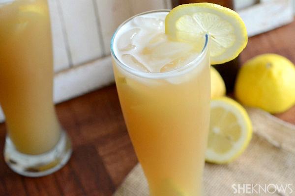 Lemon, pear & beer sangria