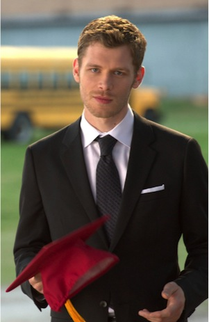 Klaus shows up at graduation in The Vampire Diaries