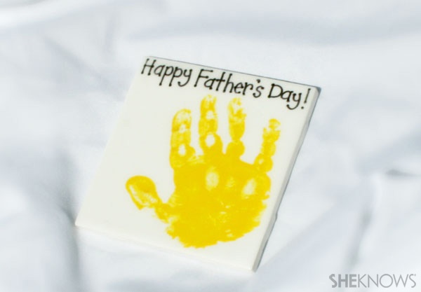 Handprint paperweight - Father's Day gift