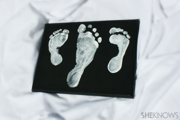 Footsteps picture - Father's Day gift