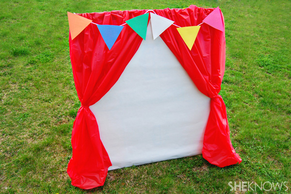 Carnival photo booth backdrop
