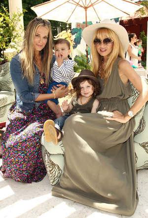 Molly Sims and Rachel Zoe with their kids