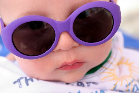 Summer baby with sunglasses