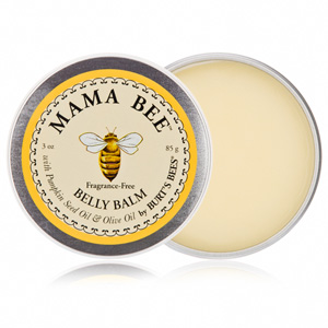 Stretch mark therapy: Burt Bees belly balm