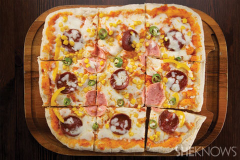 Frozen pizza toppings