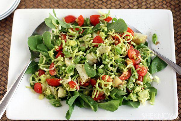 Farmers market salad with tarragon vinaigrette